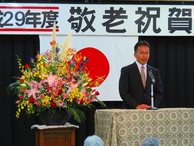福寿荘敬老会 椎葉ひろき議員の挨拶
