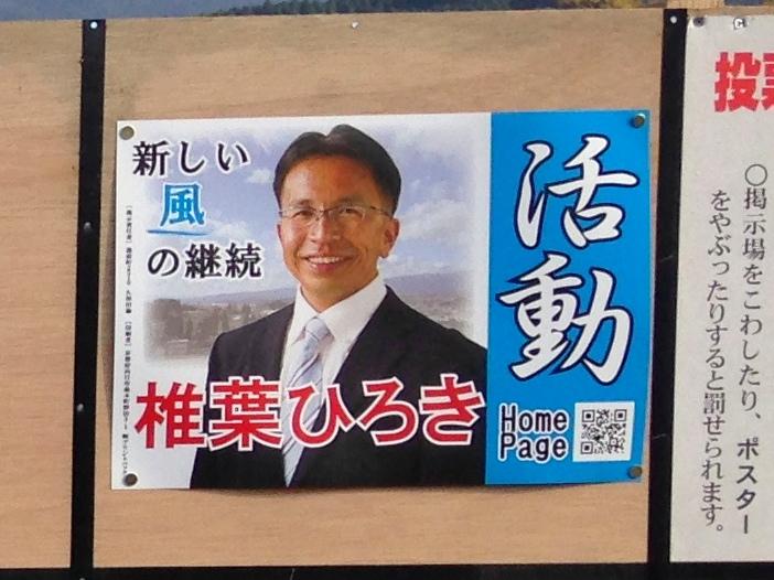 選挙ポスターのQRコード