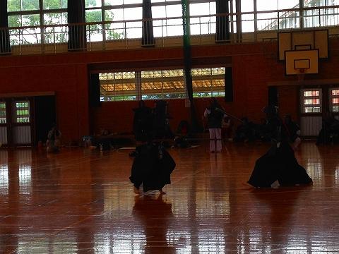 球磨郡民体育祭2015 湯前町銃剣道チーム